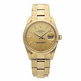 Rolex Date 15037 Gold 34.0mm Watch