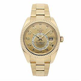 Rolex Sky-dweller 326938 Gold 42.0mm Watch