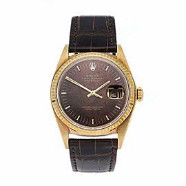 Rolex Datejust 16018 Gold 36.0mm Watch