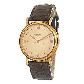 IWC Vintage 18k Yellow Gold Hand-Winding Men's Watch