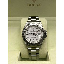 Rolex Explorer II 16550 White Dial Stainless Steel Box & Service Paper