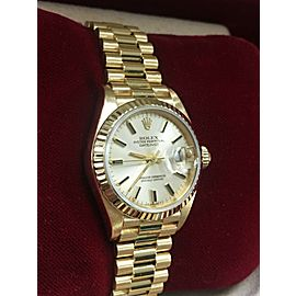 Rolex Ladies President Datejust 69178 18K Yellow Gold Box & Papers MINT