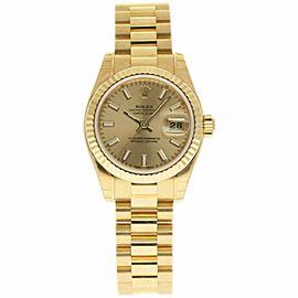 Rolex Datejust 179178 Gold 26.0mm Womens Watch