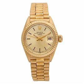 Rolex Date 6916 Gold 26.0mm Womens Watch