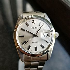 Vintage 1957 Rolex 6694 Oysterdate Precision Manual Mens Stainless Watch MA41