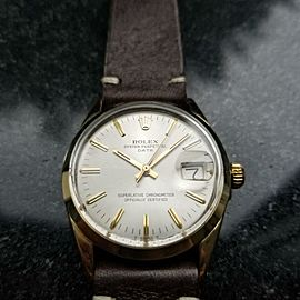 Rolex Men's Oyster Perpetual Date 1550 Gold-Capped Automatic, c.1973 Swiss LV713