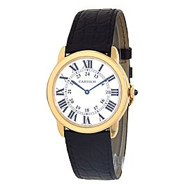 Cartier Ronde Solo 18k Yellow Gold Swiss Quartz Men's Watch W6700455