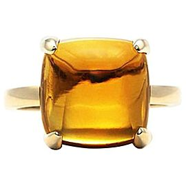 Tiffany & Co Paloma Picasso Sugar Stack Citrine Ring 18k Yellow Gold 8cts 12x12
