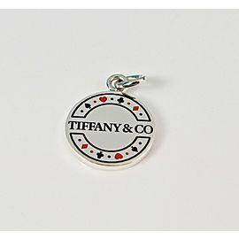 Tiffany & Co. Retired Las Vegas Poker Chip Enamel Silver Charm or Pendant