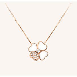 Van Cleef & Arpels Cosmos Pendant Rose Gold Mother of Pearl Diamonds