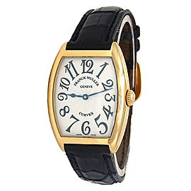 Franck Muller Cintree Curvex 18K Yellow Gold Quartz Men's Watch 7502 QZ