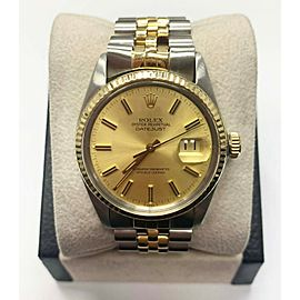 Rolex Datejust 16013 Champagne Dial 18K Yellow Gold & Stainless Steel