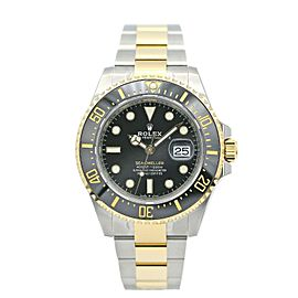 Mans' Rolex Sea-Dweller Two Tone w/ Black Dial 126603