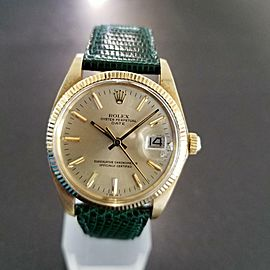 Rolex Vintage Oysterdate 1978 14K Gold 1500 Automatic Mens Swiss Watch LV271