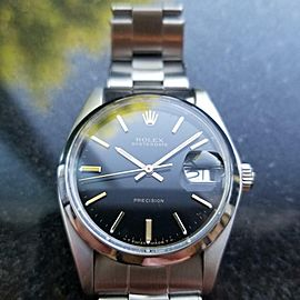 Rolex Men's Oysterdate Precision 6694 Hand Wind Swiss Vintage c.1978 MS127
