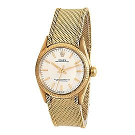 Rolex Oyster Perpetual 14k Yellow Gold Midsize Automatic Watch 6551