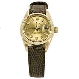 Rolex Datejust 6927 Gold 26mm Womens Watch