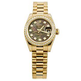 Rolex Datejust 179138 Gold 26mm Womens Watch
