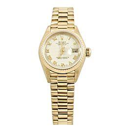 Rolex Datejust 69178 Gold 26mm Womens Watch