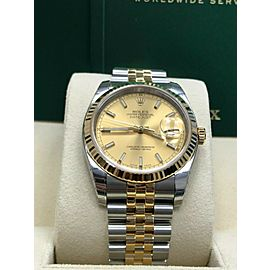 Rolex 116233 Datejust Champagne 18K Yellow Gold & Stainless Steel