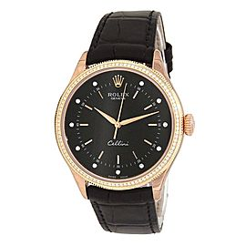 Rolex Cellini 18k Rose Gold Automatic Men's Watch 50605