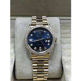 Rolex 118388 President Day Date Diamond Bezel Lugs 18K Yellow Gold