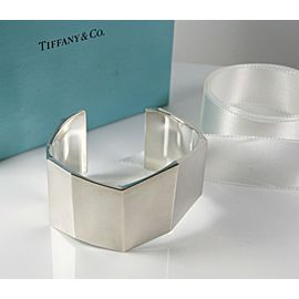 Tiffany & Co. Silver Frank Gehry Wide Fold Cuff- Retired- Size Small