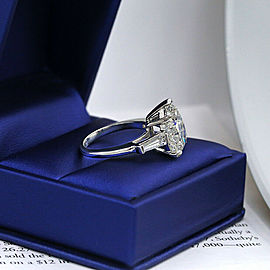 Precious Platinum Engagement Ring featured with 5.59ct. TCW Diamond