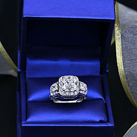 Precious 18kt White Gold Engagement Ring with 5.02ct. Diamonds