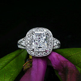 White Gold with 6.00ct Radiant Engagement Ring