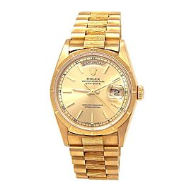 Rolex Day Date (L Serial) 18K Yellow Gold Automatic Men's Watch 18248