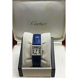Cartier Tank Francaise 2403 Diamond Bezel 18K White Gold