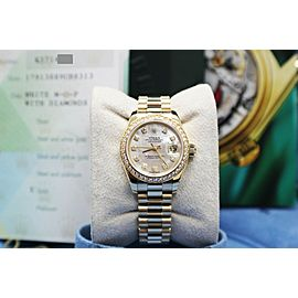 Rolex Ladies Datejust President 179138 MOP Diamond Dial & Bezel Box Paper 2004