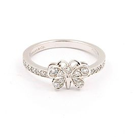 Tiffany & Co Enchant Round Diamond Butterfly Ring in Platinum 0.21 tcw
