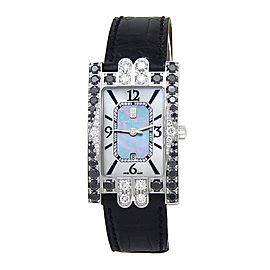 Harry Winston Lady's Avenue Classic 18k White Gold Quartz Ladies Watch 310UQW