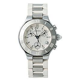 Cartier Must 21 W10197U2 Steel 32mm Women Watch (Certified Authentic & Warranty)