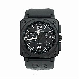 Bell & Ross Br 03 BR0394-B Ceramic Watch (Certified Authentic & Warranty)