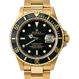 Rolex Submariner 16618 Gold 40mm Watch (Certified Authentic & Warranty)