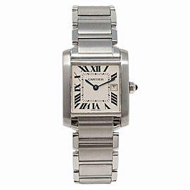 Cartier Tank Francaise 2465 Steel Women Watch (Certified Authentic & Warranty)