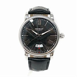Montblanc Date 115122 Steel Watch (Certified Authentic & Warranty)