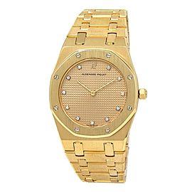 Audemars Piguet Royal Oak 18k Yellow Gold Quartz Ladies Watch 56143BAOO.0477BA01