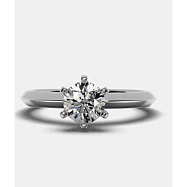 0.70 Ct LabGrown Real Diamond Engagement Ring Tiffany's Band Round E Color SI1