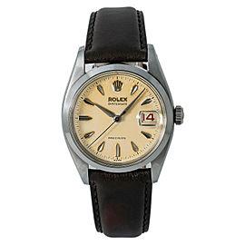 Rolex Oysterdate 6494 Steel 34mm Watch (Certified Authentic & Warranty)