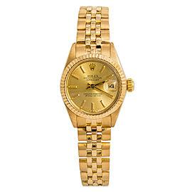 Rolex Datejust 6917 Gold 26mm Women Watch (Certified Authentic & Warranty)