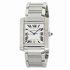 Cartier Tank Francaise 2302 Steel Watch (Certified Authentic & Warranty)