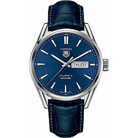 TAG HEUER CARRERA WAR201E.FC6292 MEN'S LUXURY AUTOMATIC LEATHER DAY DATE WATCH