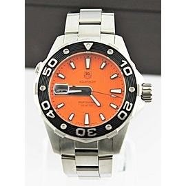 TAG HEUER AQUARACER ORANGE WAJ1113.BA0870 500M DIVER STEEL DIVER'S WATCH
