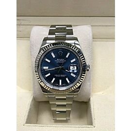 Rolex Datejust II 116334 Blue Dial 18K & Stainless Steel