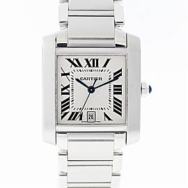 Cartier Tank Francaise W51002Q3 Steel Watch (Certified Authentic & Warranty)
