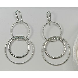 Tiffany & Co. Picasso Hammered Circles Drop Dangle Earrings
